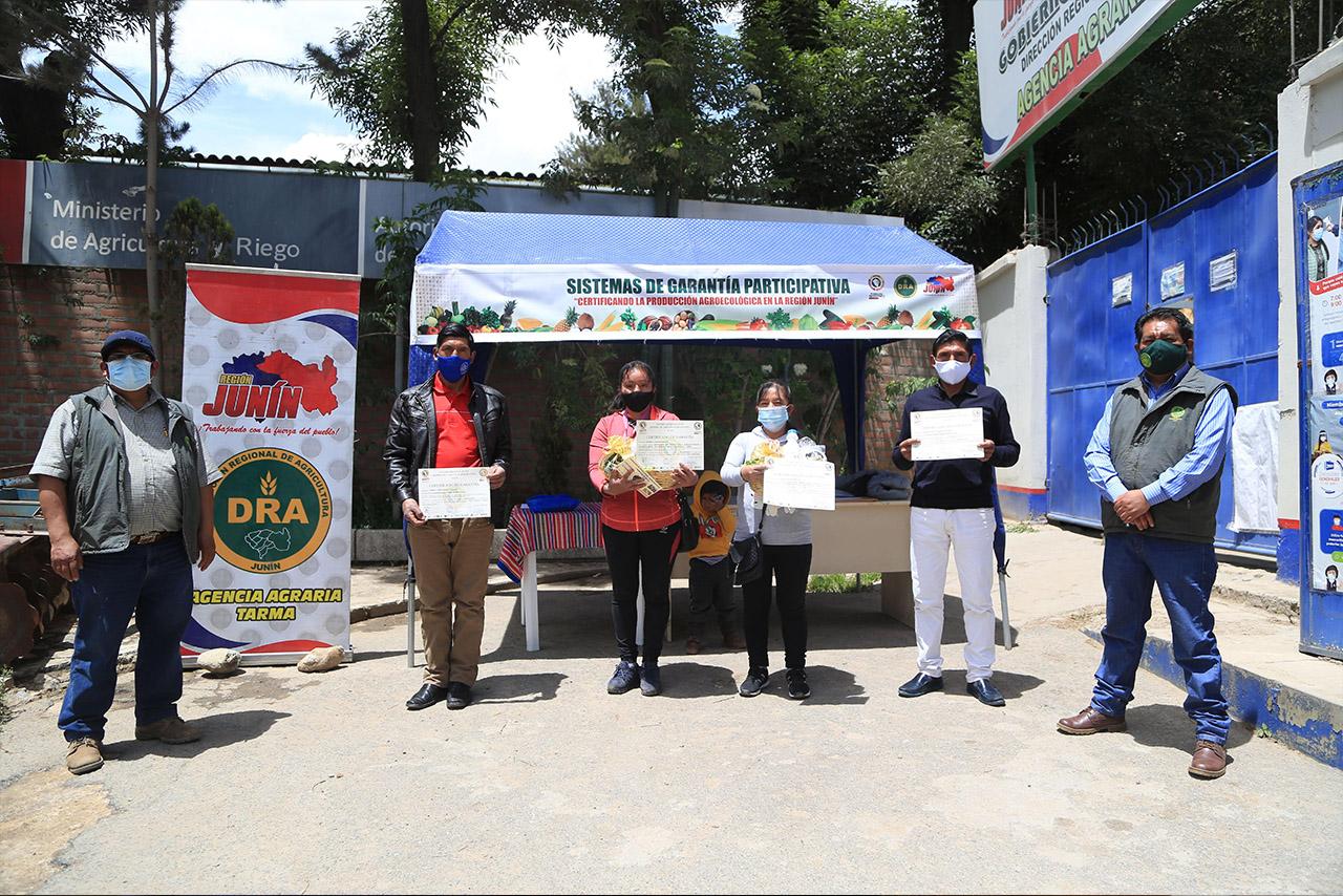 Más de treinta productores son certificados por el SGP en Tarma