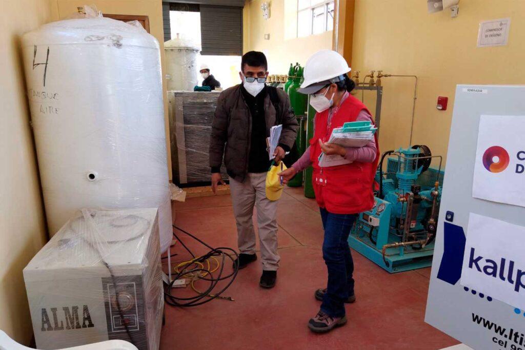 Alertan deficiencias en implementación de plantas de oxígeno en provincias de Huancavelica