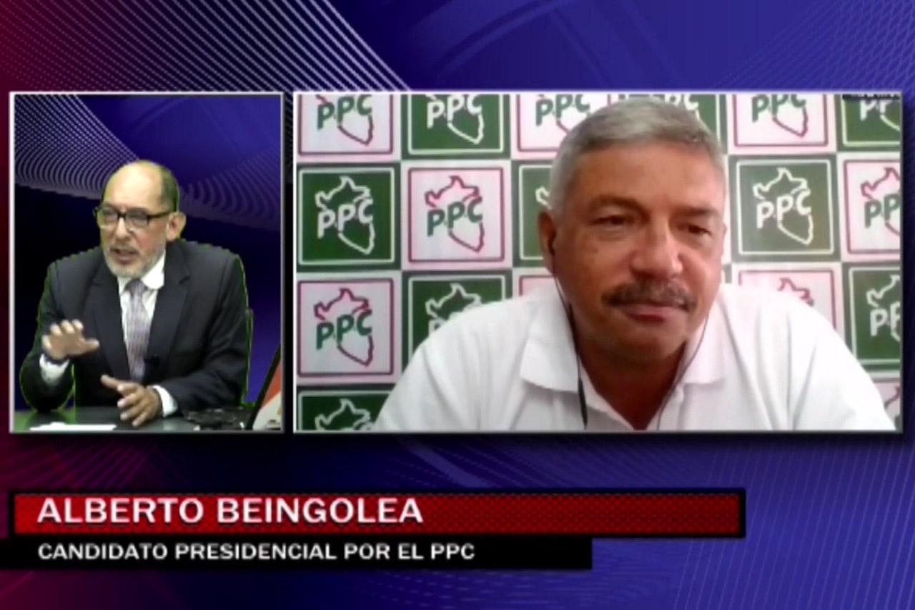 Entrevista al candidato Alberto Beingolea del PPC