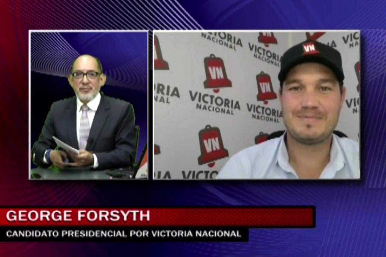 Entrevista al candidato George Forsyth de Victoria Nacional