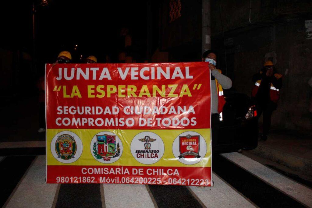 Chilca: Autoridades y vecinos realizan patrullaje de seguridad ciudadana