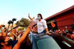 Keiko Fujimori pide celeridad al Poder Judicial para realizar campaña al interior del país