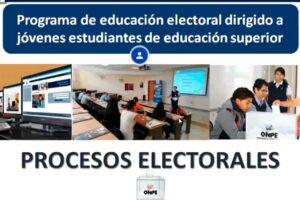 ONPE brinda educación electoral a jóvenes universitarios a través de cursos virtuales