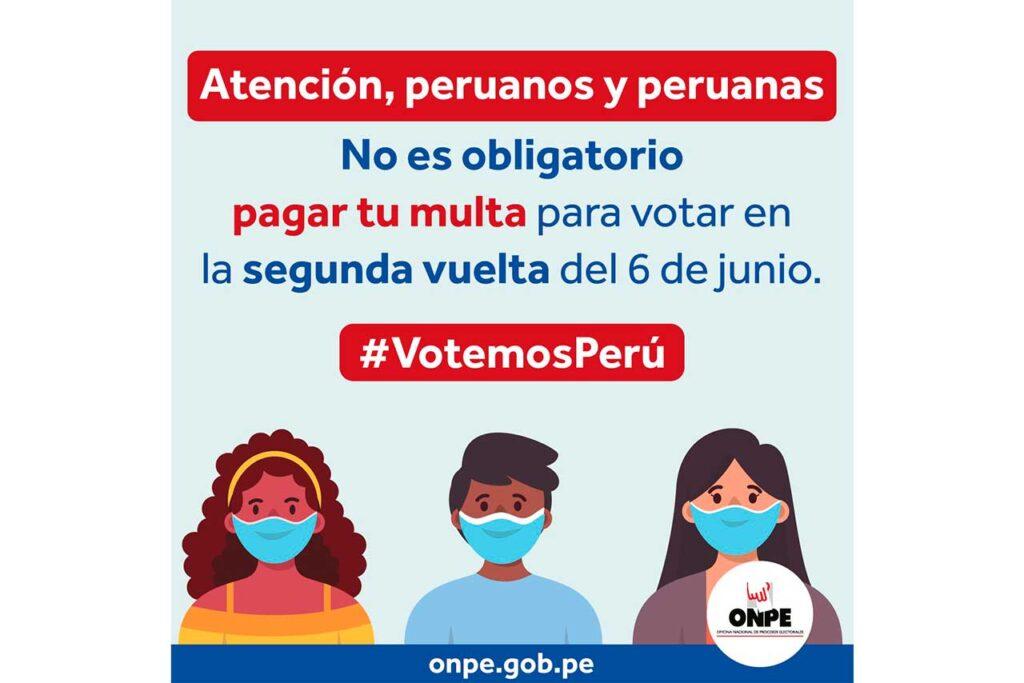 ONPE informa cómo será segunda vuelta electoral