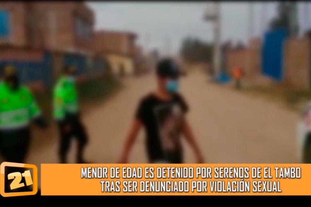 Intervienen a menor de edad por presuntamente haber atentado contra la libertad sexual (VIDEO)