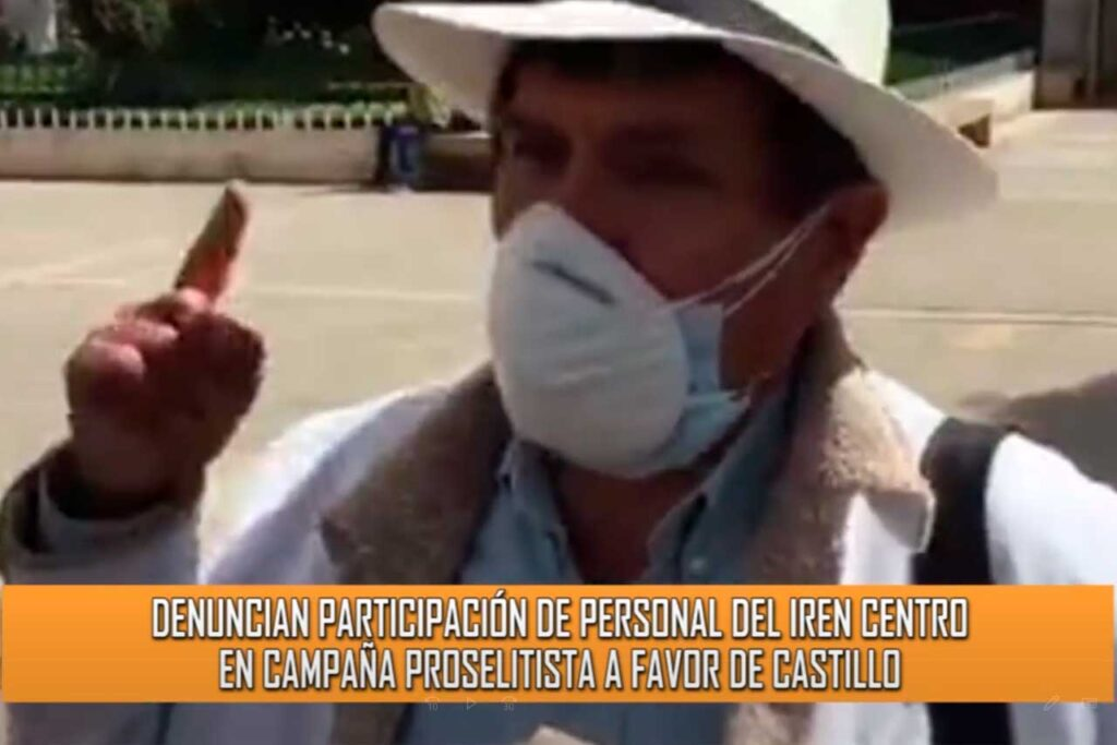 Perú Libre viene obligando a los trabajadores de IREN a asistir a las jornadas de proselitismo (VIDEO)