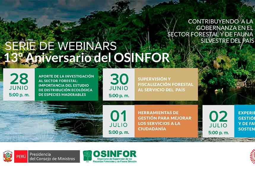 OSINFOR compartirá experiencias e iniciativas para fortalecer la gestión forestal y de fauna silvestre en el Perú