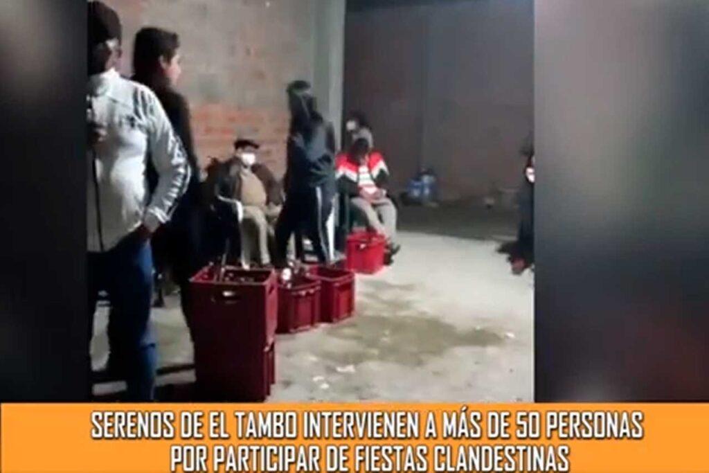Serenos intervienen a 30 personas en fiesta clandestina (VIDEO)