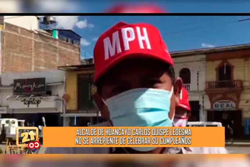 El alcalde de Huancayo, Juan Carlos Quispe Ledesma, se olvidó de las restricciones nacionales y decidió celebrar su cumpleaños con grupos musicales (VIDEO)