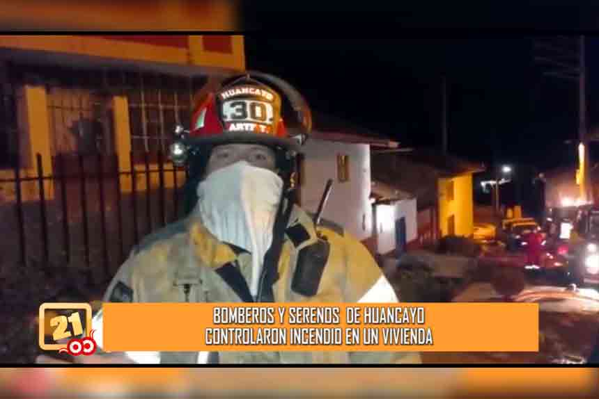 Bomberos y serenos de Huancayo controlaron incendio en una vivienda (VIDEO)