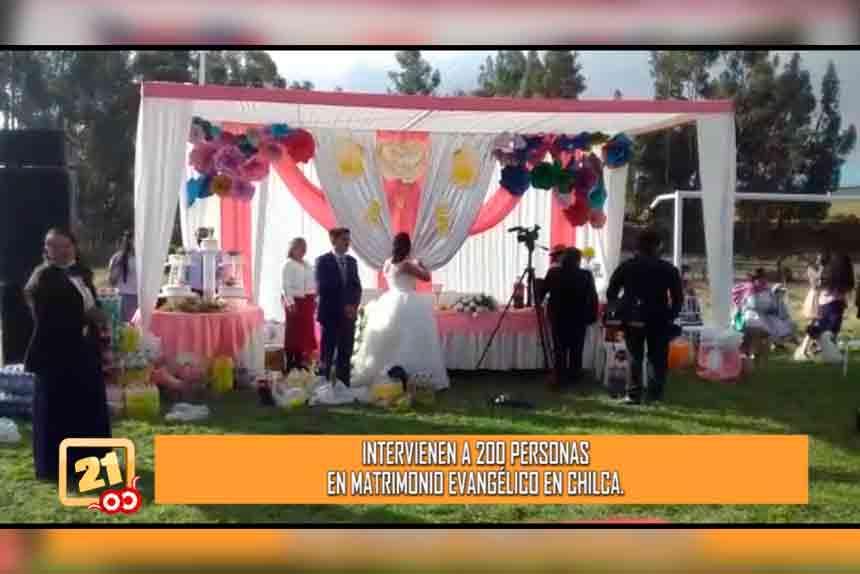 Chilca: Intervienen a 200 personas en matrimonio evangélico (VIDEO)