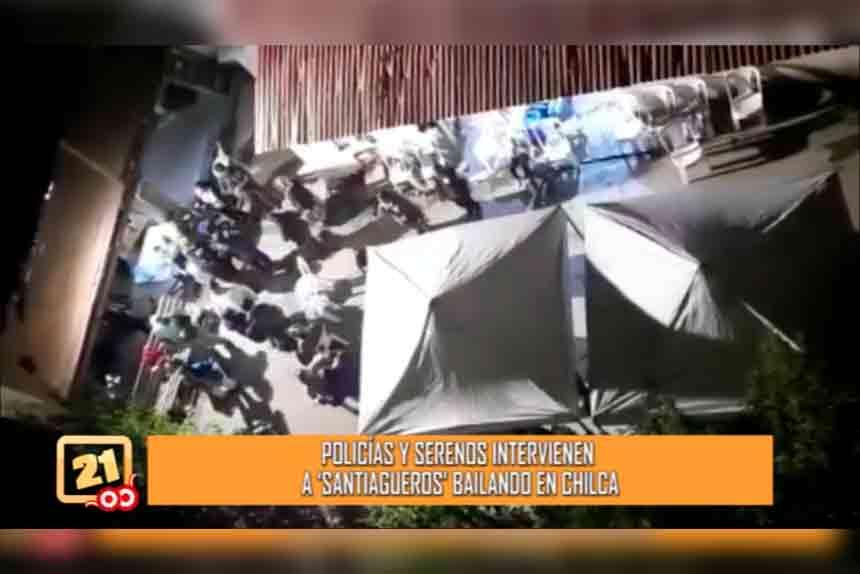 Chilca: Policías y serenos intervienen fiesta de santiago (VIDEO)