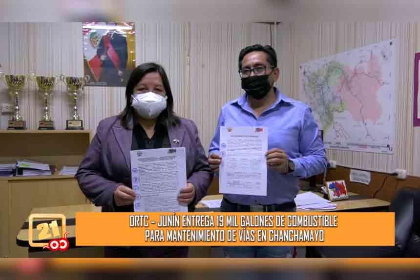DRTC Junín entrega 19 mil galones de combustible para mantenimiento de vías en Chanchamayo (VIDEO)