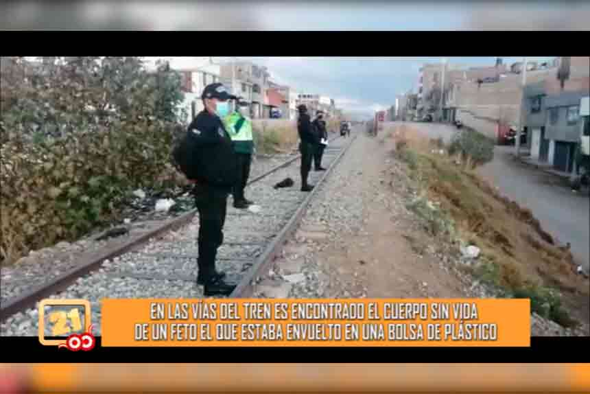 En las vías del tren es encontrado el cuerpo sin vida de un feto (VIDEO)