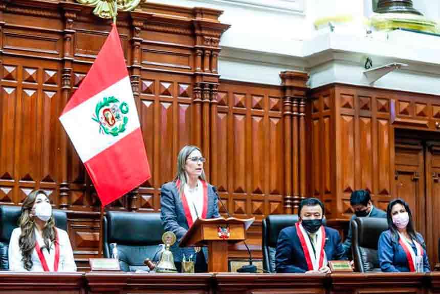 ¡Ganó la lista 2! María del Carmen Alva es la nueva presidenta del Congreso para el periodo 2021-2022