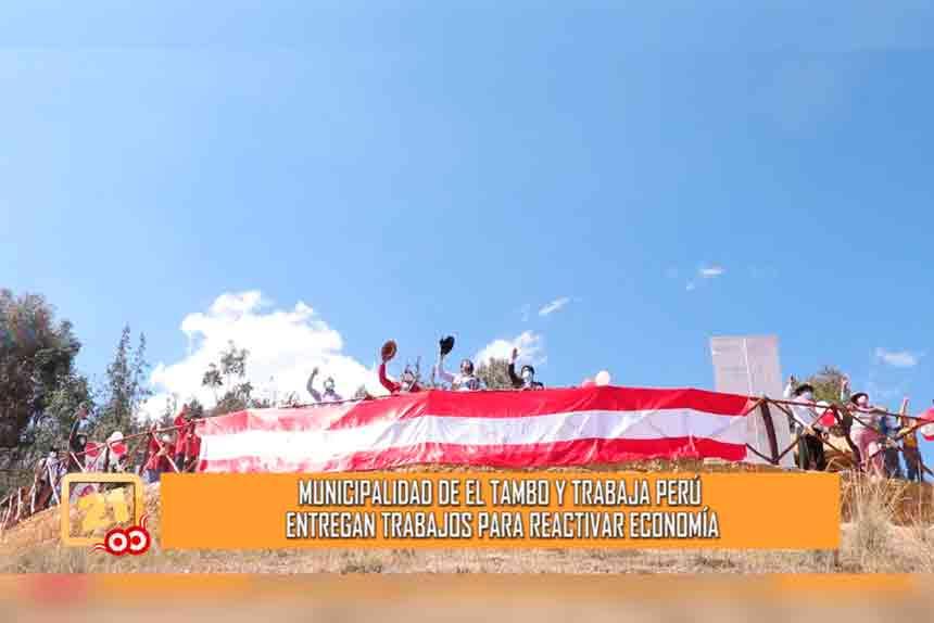 Municipalidad de El Tambo y Trabaja Perú entregan trabajos para reactivar economía (VIDEO)