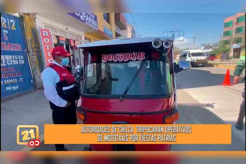 Municipio de Chilca: Vamos a triplicar operativos de mototaxis por fiestas patrias (VIDEO)