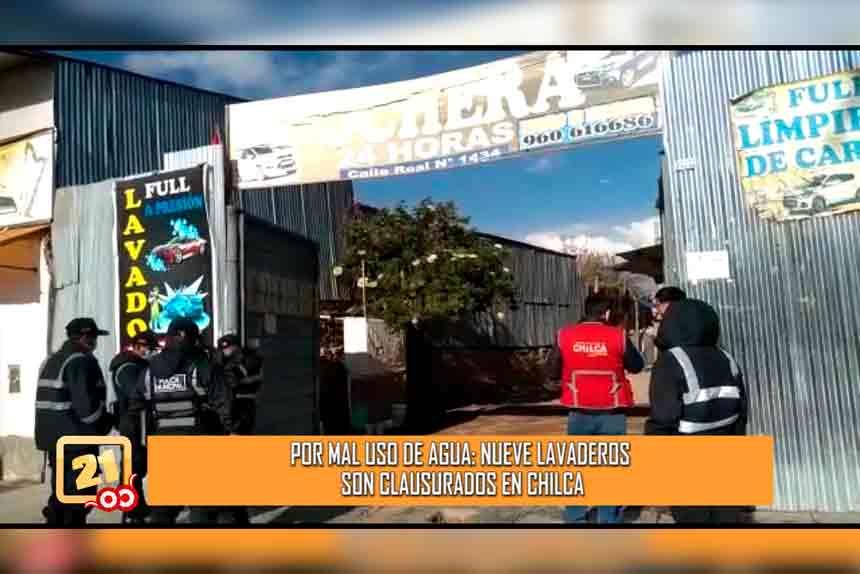 Por mal uso de agua: Nueve lavaderos son clausurados en Chilca (VIDEO)