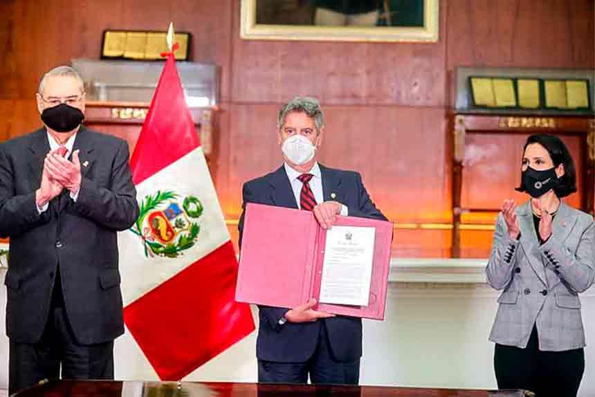 Presidente Sagasti: Acuerdo Transpacífico permitirá reforzar crecimiento descentralizado