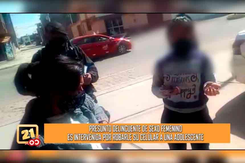 Presunto delincuente es intervenido por robarle su celular a adolescente (VIDEO)