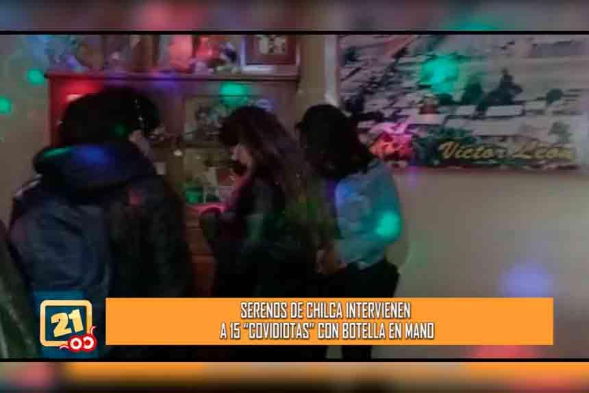 Serenos de Chilca intervienen a 15 personas  en fiesta COVID (VIDEO)