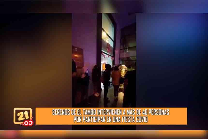 Serenos de El Tambo intervienen a más de 40 personas por participar en una fiesta COVID