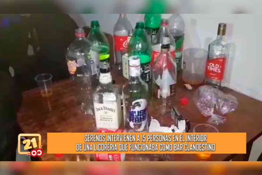 Serenos intervienen a 15 personas en el interior de una licorería que funcionaba como bar clandestino (VIDEO)