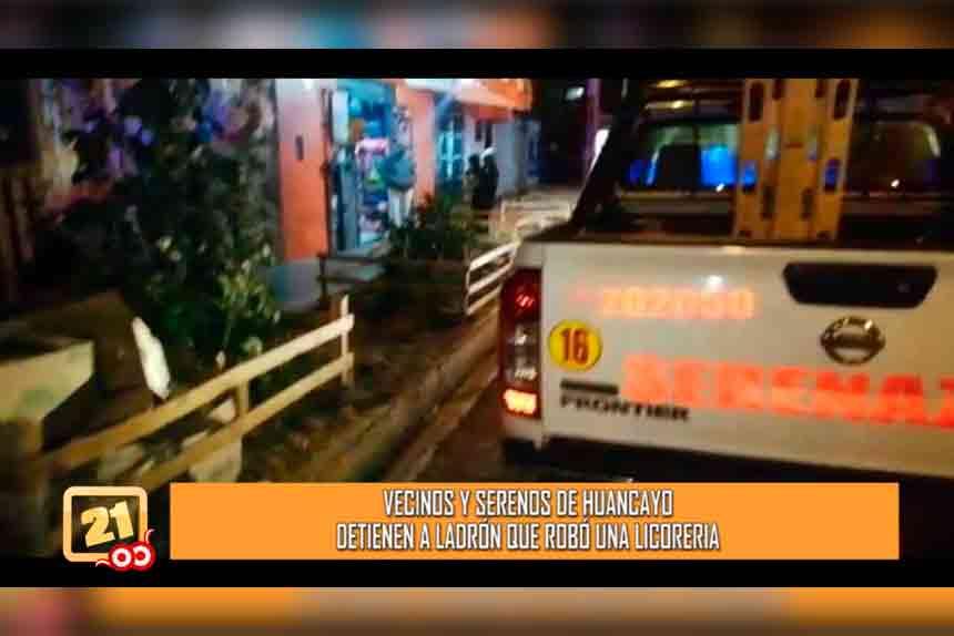 Vecinos y serenos detienen a ladrón luego de robar una licorería (VIDEO)