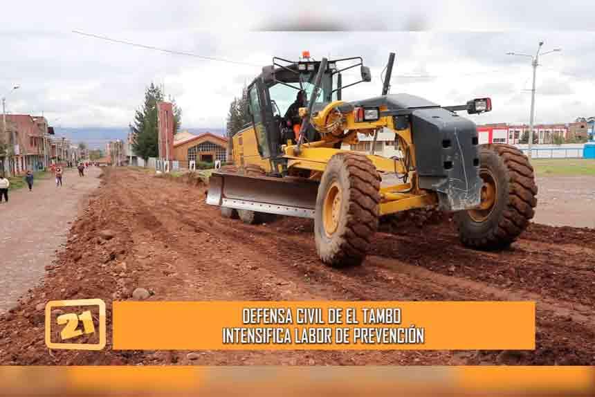 Ante primeras lluvias Defensa Civil de El Tambo intensifica labor de prevención (VIDEO)