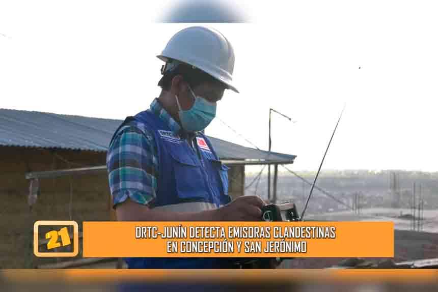 DRTC- Junín detecta emisoras clandestinas en Concepción y San Jerónimo (VIDEO)