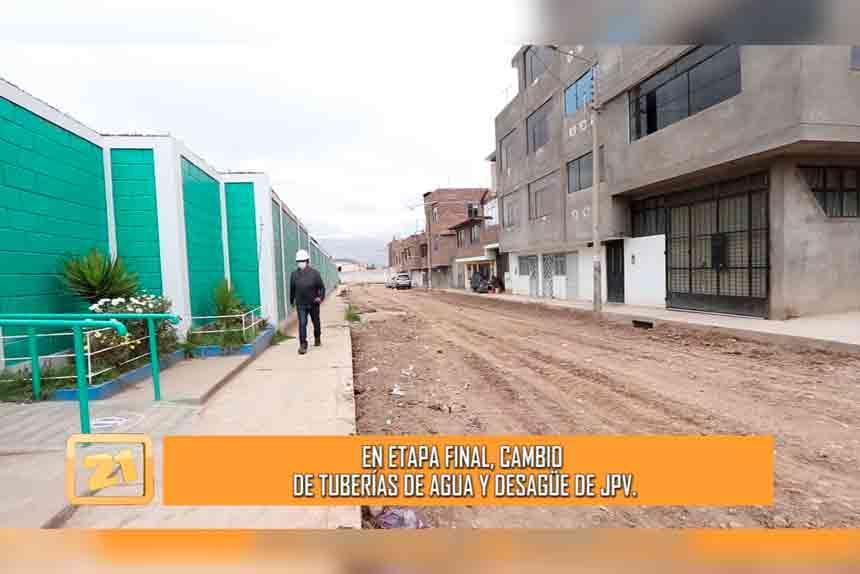 En etapa final, cambio de tuberías de agua y desagüe de Asentamiento Humano Justicia, Paz y Vida (VIDEO)