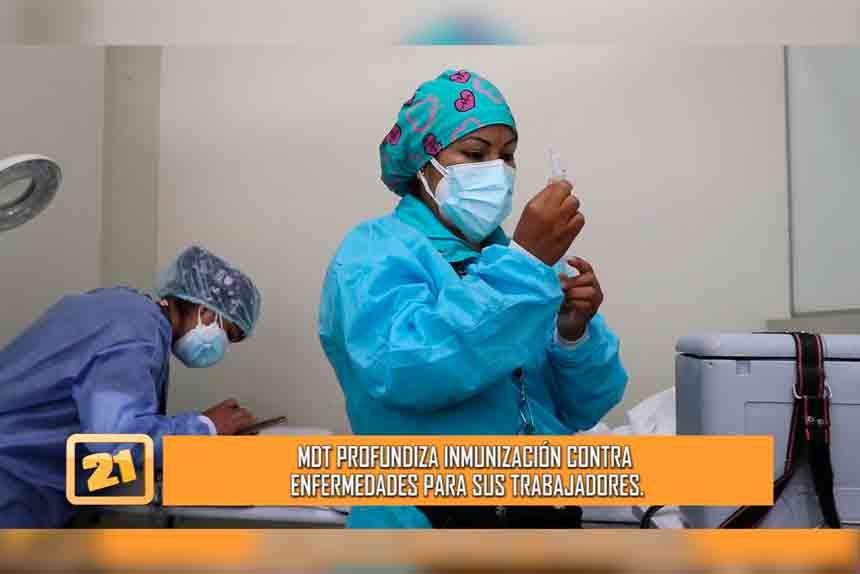 El Tambo: Profundiza inmunización contra enfermedades para sus trabajadores (VIDEO)