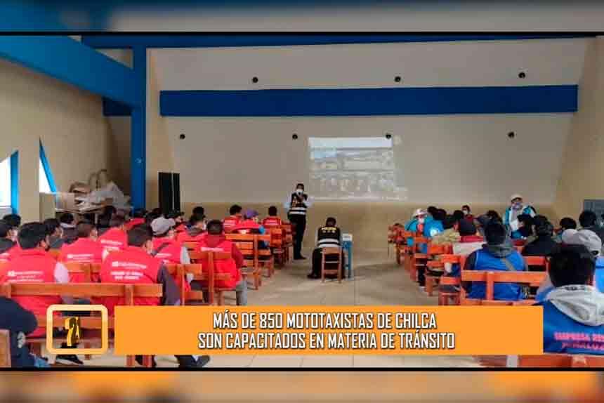 Más de 850 mototaxistas de Chilca son capacitados en materia de tránsito (VIDEO)